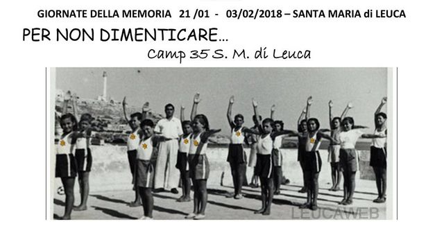 Leuca – giornate della memoria 2018 per non dimenticare